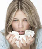 девушка аллергий Стоковое Изображение RF
