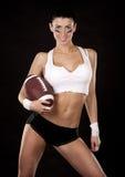 Девушка американского футбола Стоковое фото RF