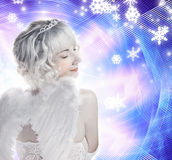 девушка ангела красивейшая Стоковое Фото