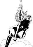 Девушка ангела иллюстрация вектора