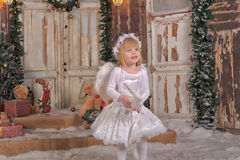 Девушка ангела рождества Стоковое Фото