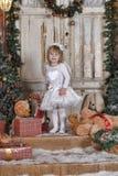Девушка ангела рождества Стоковая Фотография