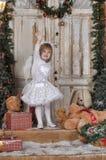 Девушка ангела рождества Стоковые Фото