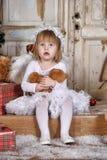 Девушка ангела рождества Стоковое Изображение RF
