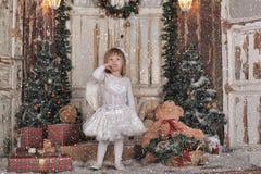 Девушка ангела рождества Стоковые Изображения RF