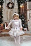 Девушка ангела рождества Стоковая Фотография RF
