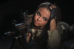 девушка армии Стоковое фото RF