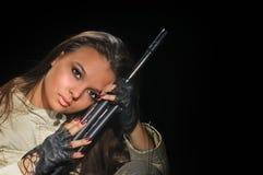 девушка армии Стоковые Изображения RF