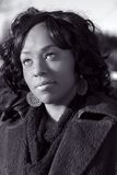 девушка афроамериканца стоковое фото rf