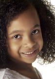 Девушка афроамериканца Стоковая Фотография