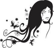 девушка бабочки иллюстрация штока