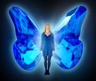 девушка бабочки Стоковые Фото