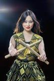 Девушка барабанщика Стоковая Фотография RF