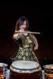 Девушка барабанщика Стоковое фото RF