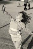 девушка баскетбола меньшяя игра Стоковые Изображения
