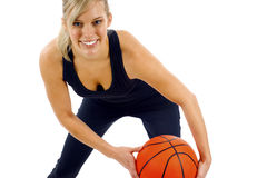 девушка баскетбола Стоковая Фотография