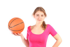 девушка баскетбола Стоковые Фотографии RF