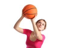 девушка баскетбола Стоковое фото RF