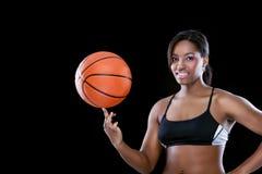 Девушка баскетбола Стоковое Изображение