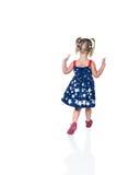 Девушка бежать далеко от рамки Стоковая Фотография RF