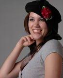девушка берета черная Стоковая Фотография RF