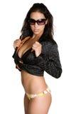 девушка бикини сексуальная стоковое изображение rf