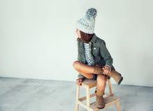 Девушка битника моды Стоковое Изображение RF