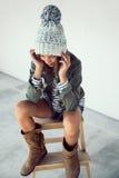 Девушка битника моды Стоковое Изображение