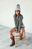 Девушка битника моды Стоковые Фото