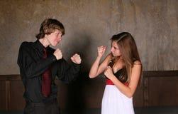 девушка бой мальчика предназначенная для подростков Стоковое фото RF
