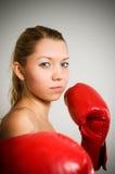 девушка бокса стоковые фотографии rf