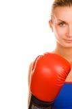девушка бокса Стоковые Изображения