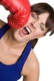девушка бокса Стоковая Фотография
