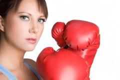 девушка боксера Стоковое Изображение