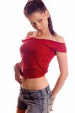девушка брюнет горячая Стоковая Фотография RF