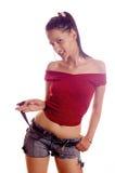 девушка брюнет горячая Стоковое Изображение