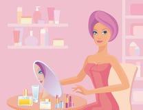 девушка ванной комнаты Стоковое Изображение