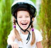 девушка велосипеда Стоковое фото RF