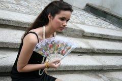 девушка вентилятора готская Стоковая Фотография