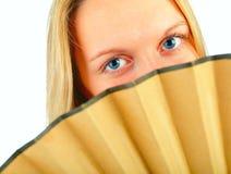 девушка вентилятора Стоковые Фотографии RF