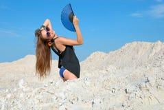 девушка вентилятора Стоковое Изображение