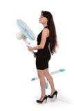 девушка вентилятора Стоковые Фото