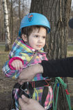 Девушка весны на фуникулере Стоковая Фотография RF