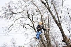 Девушка весны на фуникулере Стоковые Фото