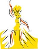 Девушка взрыва танца бесплатная иллюстрация