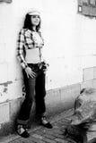девушка вися вне Стоковая Фотография RF