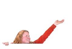 девушка вне достигая Стоковое Изображение RF