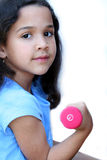 девушка вне работая детеныши Стоковое фото RF