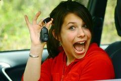 девушка водителя подростковая Стоковое Изображение