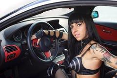девушка водителя Стоковые Фотографии RF